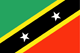 Saint Kitts y Nevis Flag
